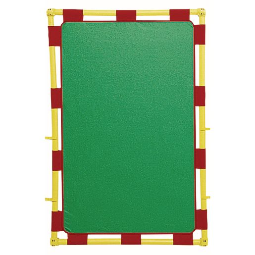 """""""Activity Center PlayPanels® - Rectangle, 31"""""""" x 48"""""""" - Green with Yellow Piping"""""""