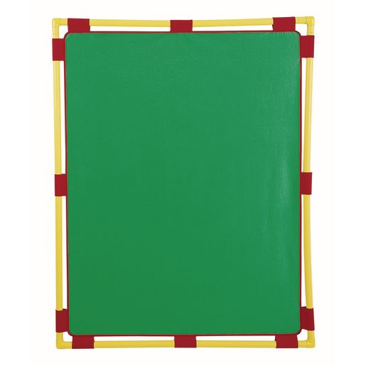 """Activity Center PlayPanels® - Rectangle, 31"""" x 48"""" - Green with Yellow Piping"""
