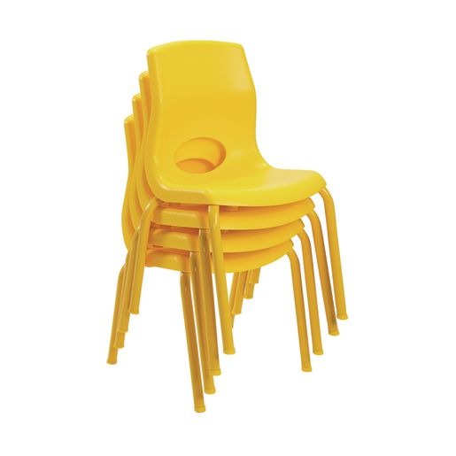 "Angeles® MyPosture™ Chair 14"" H - Set of 4 Yellow"