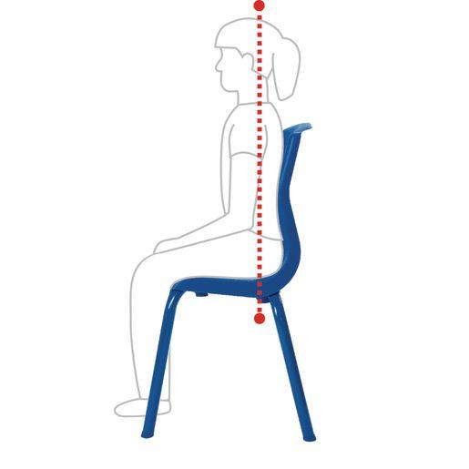 """Angeles® MyPosture™ Chair - 10""""H Blue"""