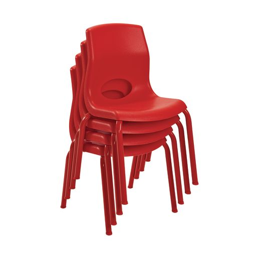 "Angeles® MyPosture™ Chair 8"" H - Set of 4 - Red"