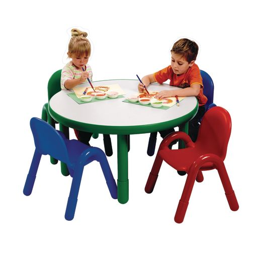 """Angeles® BaseLine® Preschool Table and Chairs Set - 36"""" Round in Natural"""