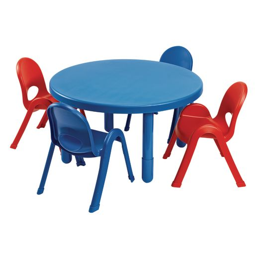 Image of Angeles MyValue Round Table with 4 Chairs Set - Blue