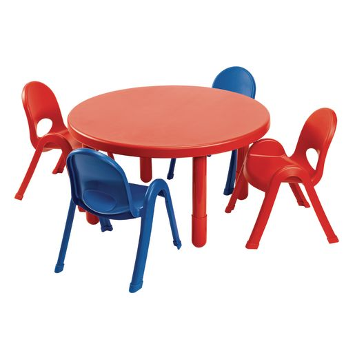 Angeles® MyValue™ Round Table with 4 Chairs Set - Red