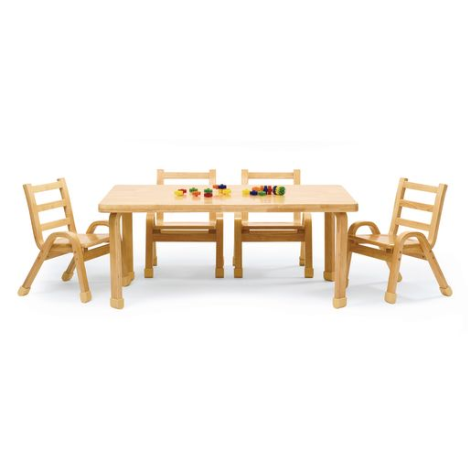 "Angeles® NaturalWood™ Collection Rectangular Table 20""H"