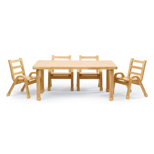"Angeles® NaturalWood™ Collection Rectangular Table 22""H"