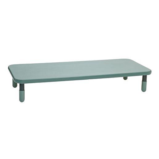 "30"" x 72"" Rectangle BaseLine® Table, 12""H - Teal"