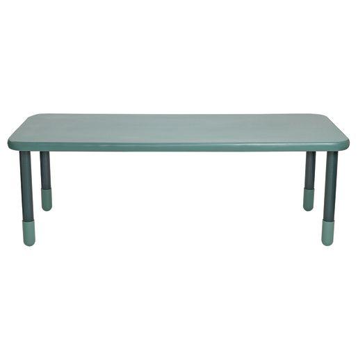 "30"" x 72"" Rectangle BaseLine® Table, 24""H - Teal"