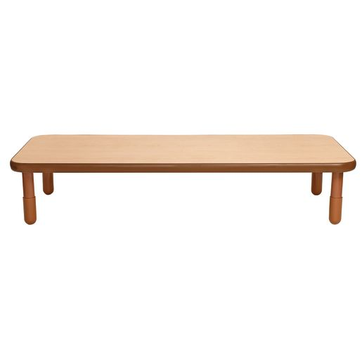 """30"""" x 72"""" Rectangle BaseLine® Table, 12""""H - Natural Cocoa"""