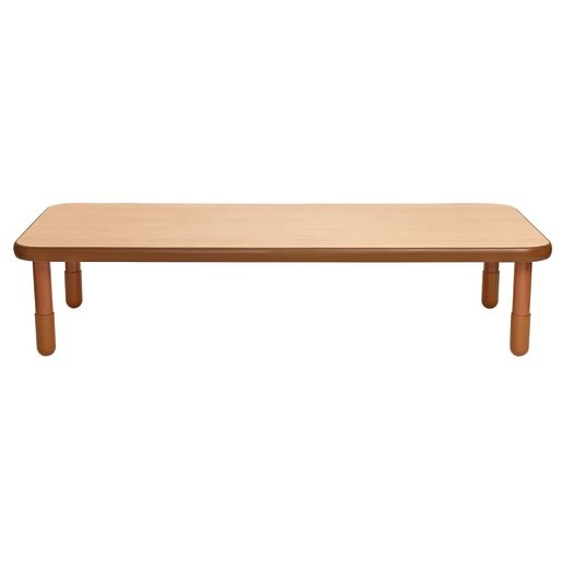 """30"""" x 72"""" Rectangle BaseLine® Table, 16""""H - Natural Cocoa"""