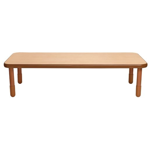 """30"""" x 72"""" Rectangle BaseLine® Table, 18""""H - Natural Cocoa"""