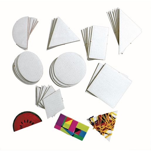 Image of Geometric Collage Board Shapes Set of 56