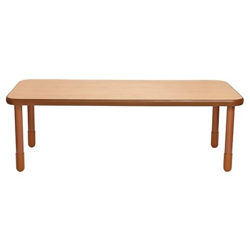 "30"" x 72"" Rectangle BaseLine® Table, 24""H - Natural Cocoa"