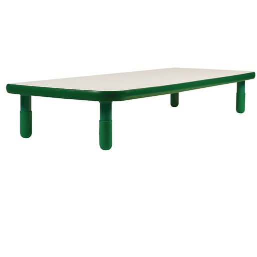 "30"" x 72"" Rectangle BaseLine® Table, 14""H - Shamrock Green"