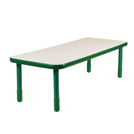 "30"" x 72"" Rectangle BaseLine® Table, 24""H - Shamrock Green"