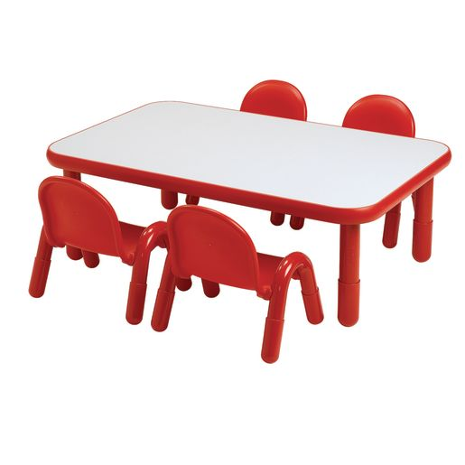 "30"" x 72"" Rectangle BaseLine® Table, 16""H - Red"