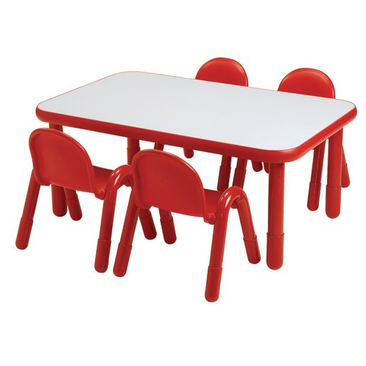 """30"""" x 72"""" Rectangle BaseLine® Table, 20""""H - Red"""