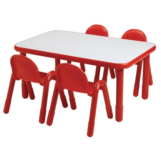 """30"""" x 72"""" Rectangle BaseLine® Table, 22""""H - Red"""