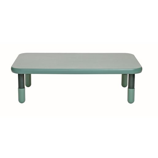 "30"" x 48"" Rectangle BaseLine® Table, 12""H - Teal Green"