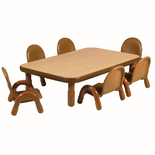 """30"""" x 48"""" Rectangle BaseLine® Table, 12""""H - Natural Cocoa"""