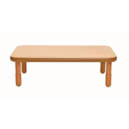 """30"""" x 48"""" Rectangle BaseLine® Table, 14""""H - Natural Cocoa"""