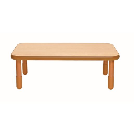 """30"""" x 48"""" Rectangle BaseLine® Table, 18""""H - Natural Cocoa"""