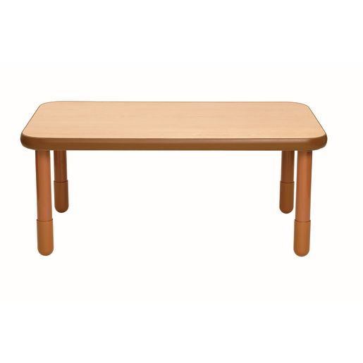"""30"""" x 48"""" Rectangle BaseLine® Table, 20""""H - Natural Cocoa"""