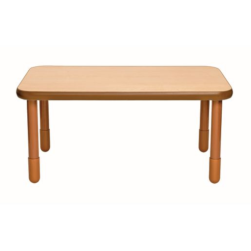 """30"""" x 48"""" Rectangle BaseLine® Table, 22""""H - Natural Cocoa"""