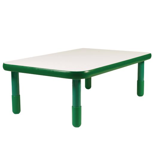 "30"" x 48"" Rectangle BaseLine® Table, 18""H - Green"