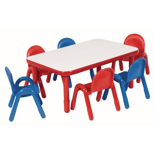 """30"""" x 48"""" Rectangle BaseLine® Table, 22""""H - Red"""