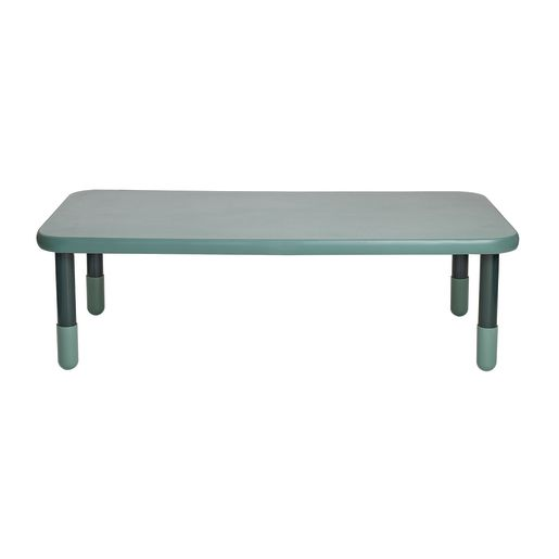 "30"" x 60"" Rectangle BaseLine® Table, 18""H - Teal Green"