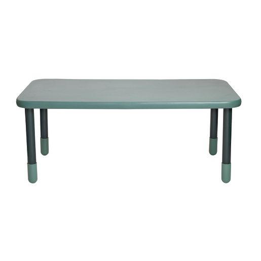 """30"""" x 60"""" Rectangle BaseLine® Table, 24""""H - Teal Green"""