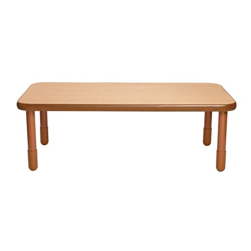 """30"""" x 60"""" Rectangle BaseLine® Table, 20""""H - Natural Cocoa"""