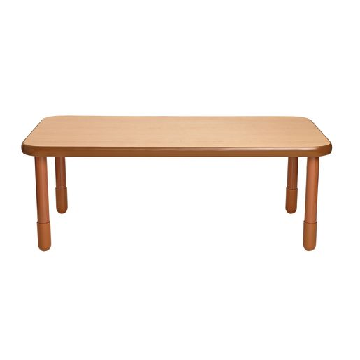 "30"" x 60"" Rectangle BaseLine® Table, 22""H - Natural Cocoa"