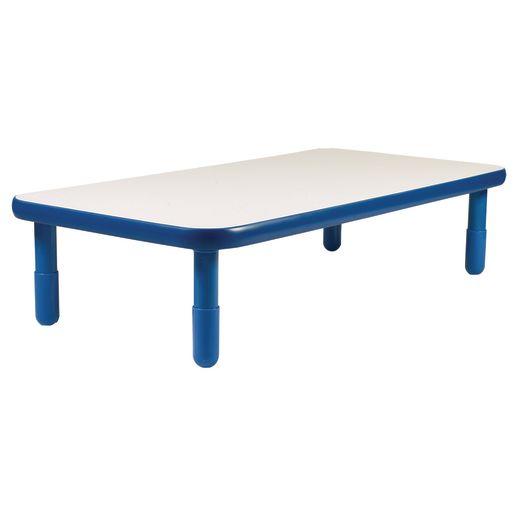 "30"" x 60"" Rectangle BaseLine® Table, 12""H - Blue"