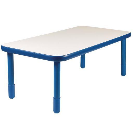 "30"" x 60"" Rectangle BaseLine® Table, 20""H - Blue"