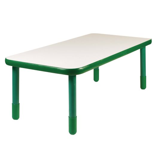 "30"" x 60"" Rectangle BaseLine® Table, 20""H - Shamrock Green"