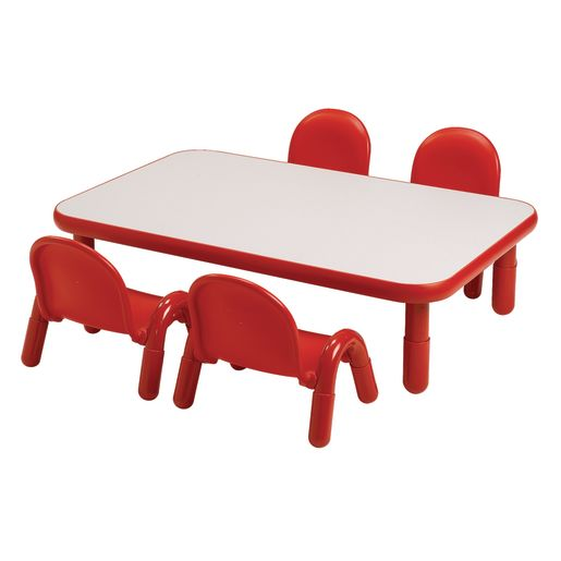 """30"""" x 60"""" Rectangle BaseLine® Table, 12""""H - Red"""