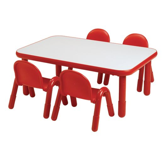 """30"""" x 60"""" Rectangle BaseLine® Table, 18""""H - Red"""
