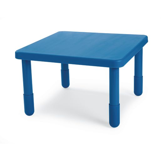 """Angeles® Value Table 28"""" Square, 12"""" Leg Height - Blue"""
