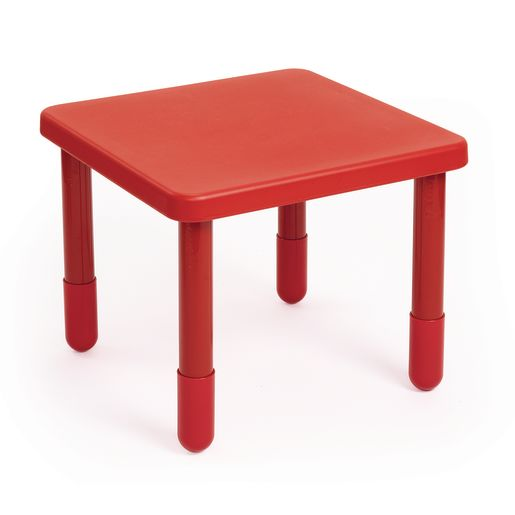 """Angeles® Value Table 28"""" Square, 12"""" Leg - Red"""