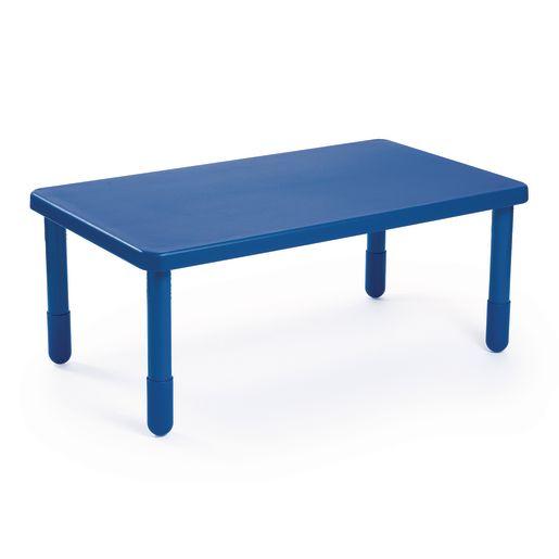 "Angeles® Value Table 28"" x 48"" Rectangle, 12"" Leg - Blue"