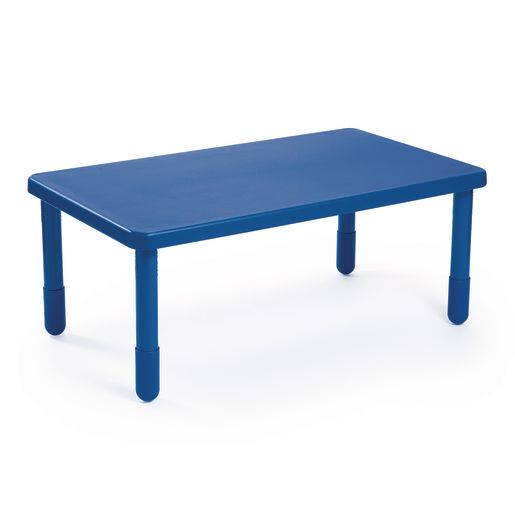 "Angeles® Value Table 28"" x 48"" Rectangle, 24"" Leg - Blue"