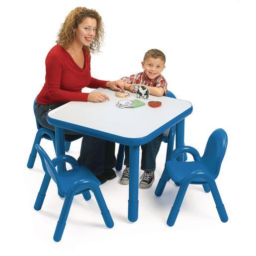 "30"" Square BaseLine® Table, 16""H - Blue"