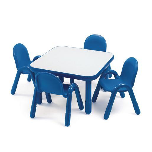"30"" Square BaseLine® Table, 18""H - Blue"