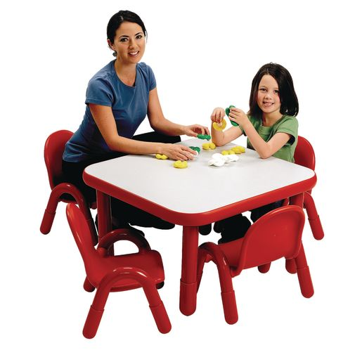"""30"""" Square BaseLine® Table, 16""""H - Red"""
