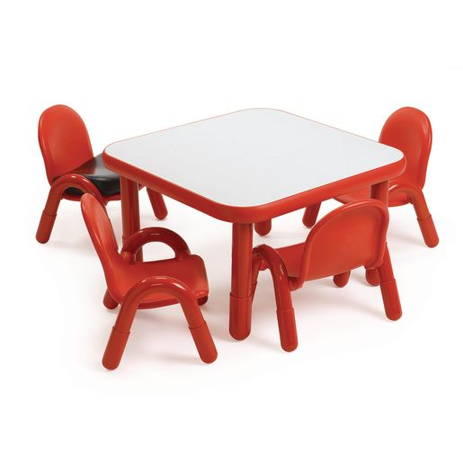 """30"""" Square BaseLine® Table, 24""""H -Red"""