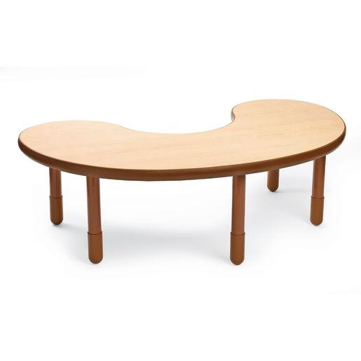 """38"""" x 65"""" Kidney BaseLine® Table, 18""""H - Natural Cocoa"""