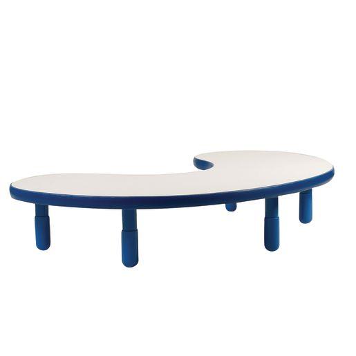 "38"" x 65"" Kidney BaseLine® Table, 12""H - Blue"
