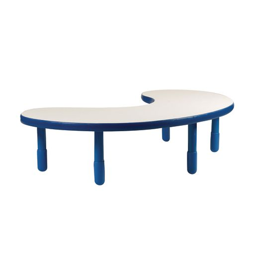 "38"" x 65"" Kidney BaseLine® Table, 18""H - Blue"